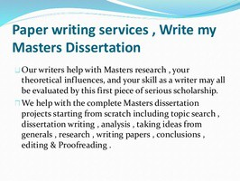 Write my master's thesis for me
