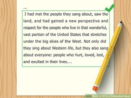 How to Write a Successful Reflection Paragraph