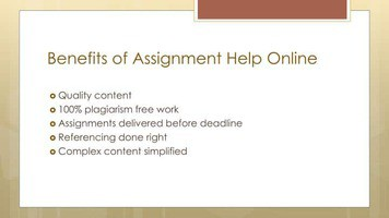 Benefits of assignments help