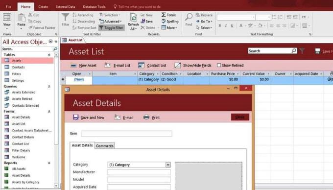 microsoft access assignment